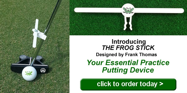 The Frog Stick Essential Practice Putting Device